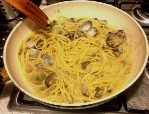 spaghetti cu vongole
